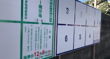 12月8日投開票の小金井市長選挙、小金井市議会議員補欠選挙、今日スタート