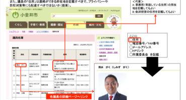 小金井市議会には、広く市民から意見を聴き応える仕組みが整えられていない。議会の「広聴」とは